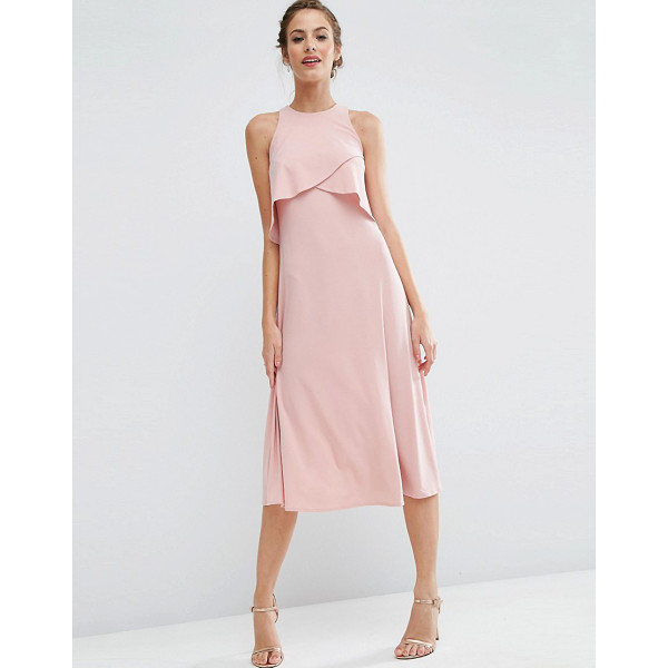 """ASOS WEDDING Double Layer Midi Dress - """"""""Midi dress by ASOS Collection, Smooth stretch fabric,..."""