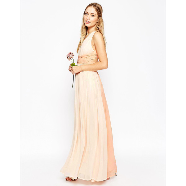 "ASOS WEDDING Hollywood Contrast Maxi Dress - """"Maxi dress by ASOS Collection, Mid-weight chiffon, Fully..."