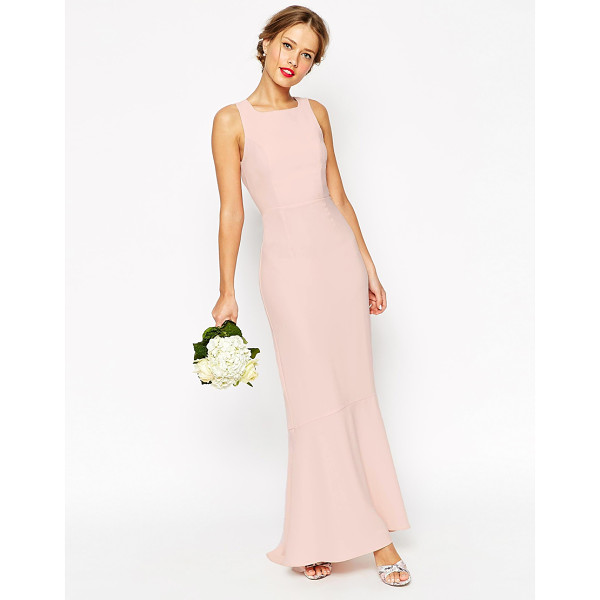ASOS WEDDING Maxi With Fishtail - Maxi dress by ASOS Collection, Mid-weight crepe-style...