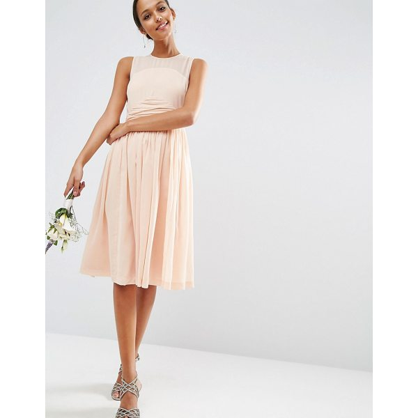 ASOS WEDDING Midi Dress With Rouche Panel Detail - Midi dress by ASOS Collection, Lightweight woven fabric,...