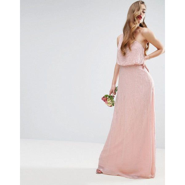 "ASOS DESIGN Bridesmaid one shoulder embellished maxi dress - """"Maxi dress by ASOS Collection, Mid-weight chiffon, Fully..."