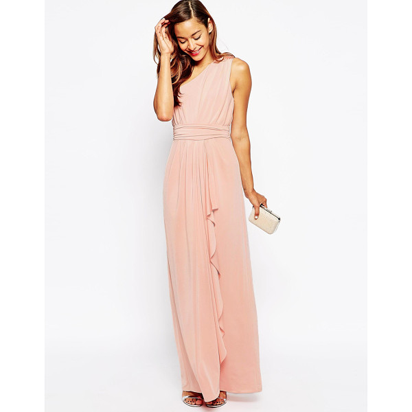 ASOS Wedding one shoulder sexy slinky maxi dress - Maxi dress by ASOS Collection, Lined smooth, woven smooth...