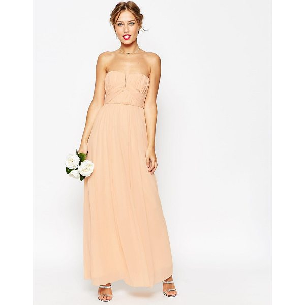 "ASOS WEDDING Ruched Bodice Bandeau Maxi Dress - """"Dress by ASOS Collection, Layered chiffon, Bandeau..."