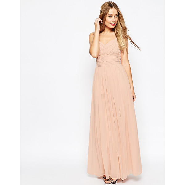 """ASOS WEDDING Ruched Panel Maxi Dress - """"""""Maxi dress by ASOS Collection, Lined chiffon, Sweetheart..."""