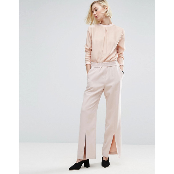 """ASOS WHITE ASOS WHITE Split Front Pull On Pant - """"""""Pants by ASOS WHITE, Soft-touch woven fabric, Mid-rise..."""