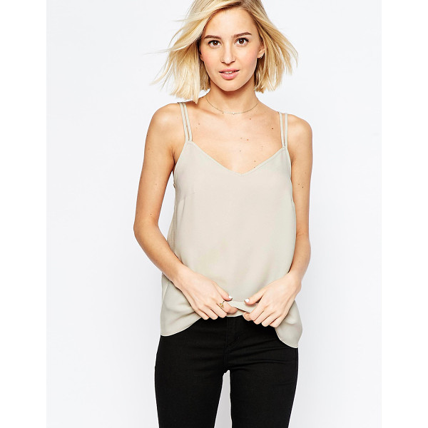 ASOS Woven cami top with double straps - Top by ASOS Collection Lightweight woven fabric V-neckline...