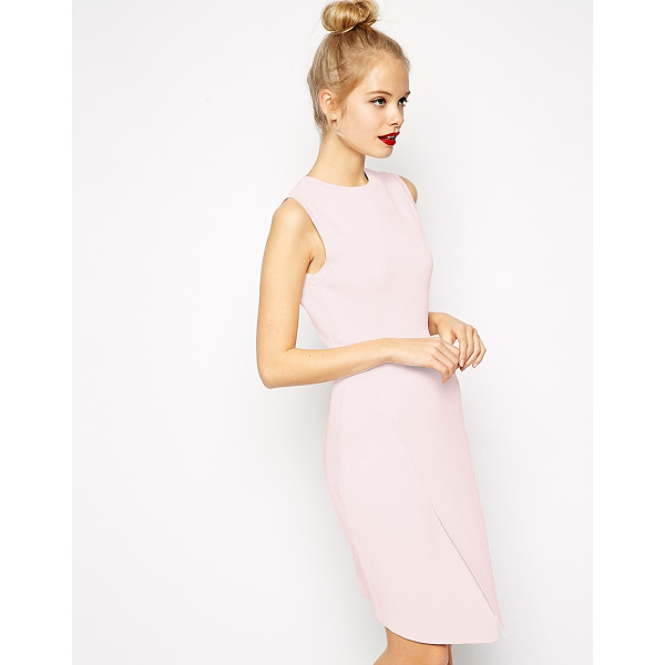 ASOS Wrap dress in structured knit with cut out detail - Dress by ASOS Collection Heavy-weight, structured, textured...