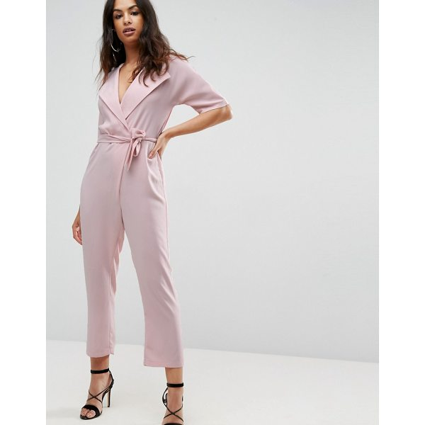 "ASOS Wrap Jumpsuit with Self belt - """"Jumpsuit by ASOS Collection, Lightweight woven fabric,..."