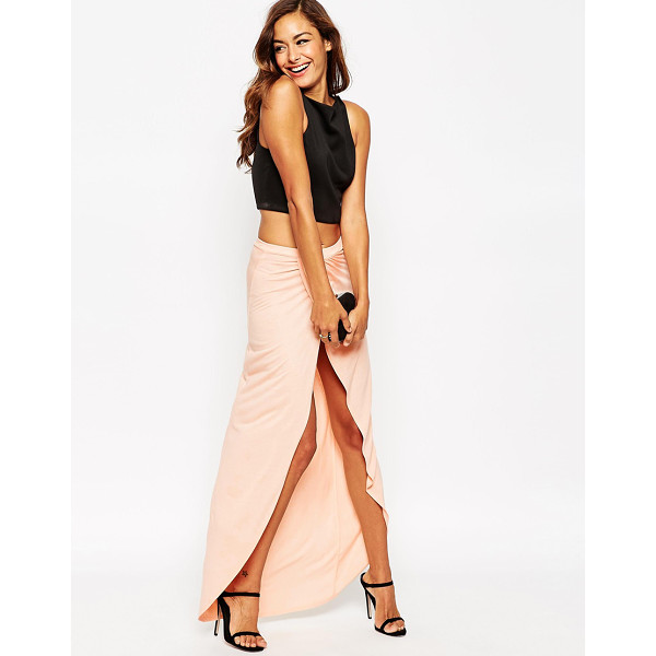 ASOS Wrap maxi skirt in jersey - Maxi skirt by ASOS Collection Lightweight jersey High-rise...
