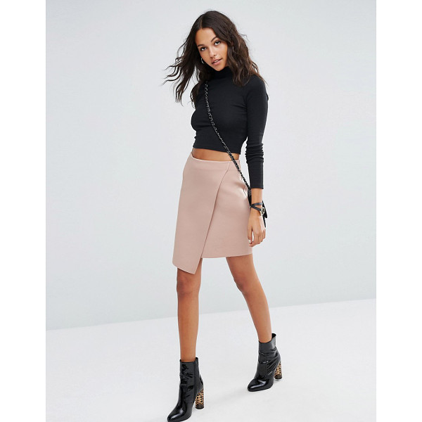 ASOS Wrap Mini Skirt in Scuba - Skirt by ASOS Collection, Scuba-style fabric, Unlined...