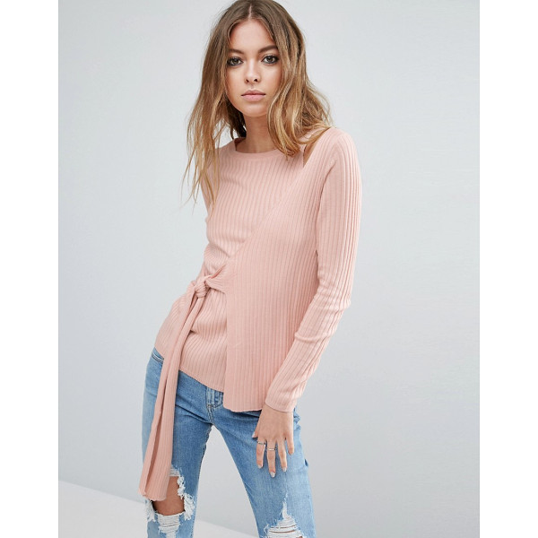 "ASOS Wrap Sweater - """"Sweater by ASOS Collection, Ribbed knit, Crew neck, Wrap..."