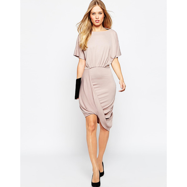 ASOS Wrap twist t shirt mini dress - Dress by ASOS Collection, Smooth stretch fabric, Boat...