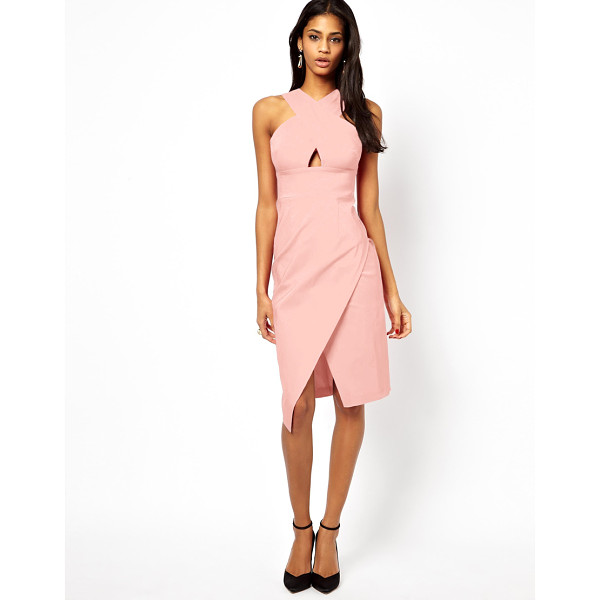 ASOS X front pencil midi dress - Machine wash according to instructions on care label. Body:...