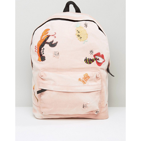 ASOS X LOT STOCK & BARREL Backpack with Embroidery - Backpack by ASOS X Lot, Stock Barrel, Fabric outer, Lined
