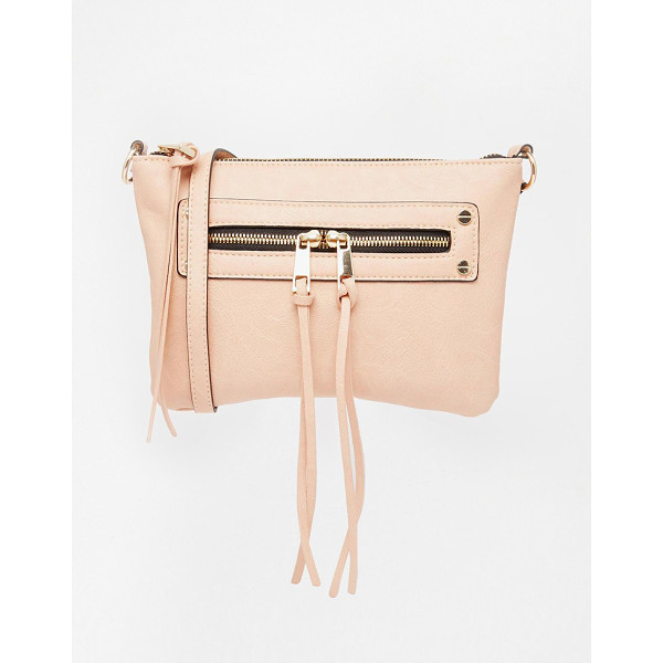 ASOS Zip pocket cross body bag - Cart by ASOS Collection Faux-leather outer Front zip pocket...
