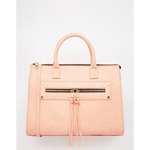 ASOS Zip pocket tote bag - Cart by ASOS Collection Faux-leather outer Grab handles...