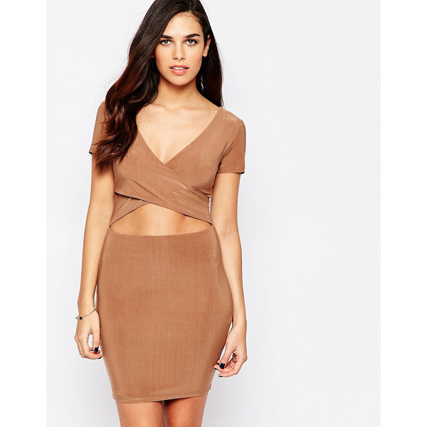 Ax Paris Bodycon Dress With Midriff Cut Out Nudevotion Com
