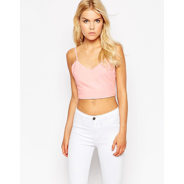 AX PARIS Crop Tank Top - Top by AX Paris, Cotton-rich fabric, Added stretch for...