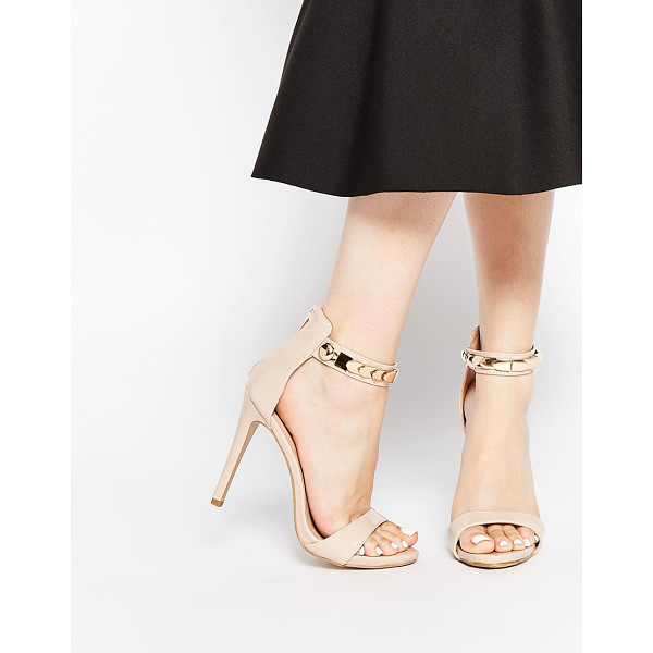AX PARIS Leona barely there heeled sandals - Shoes by AX Paris, Smooth faux leather upper, Barely-there...