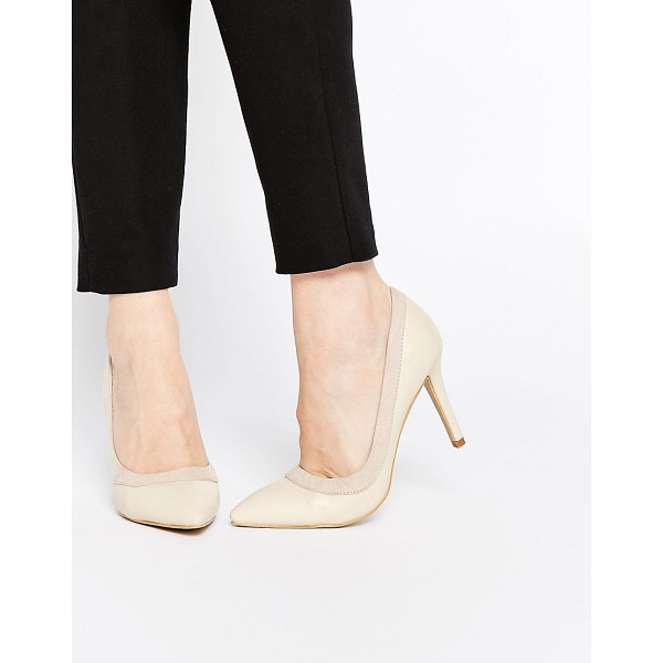 AX PARIS Marly heeled pumps - Shoes by AX Paris, Smooth faux leather upper, Contrast faux...