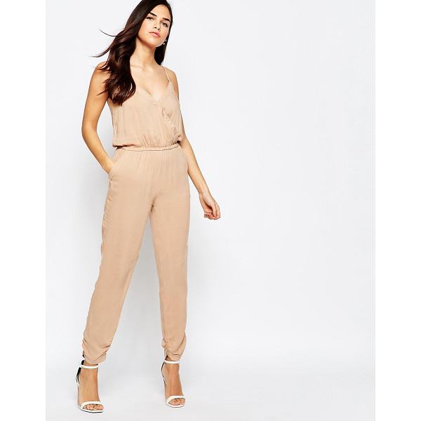 AX PARIS Wrap Front Jumpsuit - Jumpsuit by AX Paris, Lightweight woven fabric, Wrap...