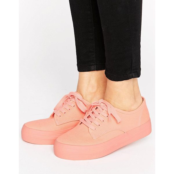 BLINK Flatform Sneaker - Shoes by Blink, Canvas style upper, Lace-up fastening,...