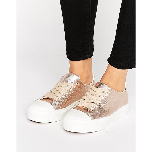 BLINK Soft Toecap Lace Up Sneaker - Sneakers by Blink, Faux-leather upper, Metallic finish,...