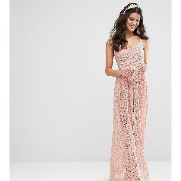 """BODY FROCK Bodyfrock Cami Strap Maxi Dress in Allover Lace - """"""""Lace dress by Body Frock, Partially-lined lace, V-neck,..."""