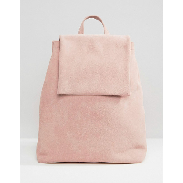 BOOPACKS Boo Backpack in Pink Suede - Backpack by Boopacks, Suede outer, Single grab handle, Twin...