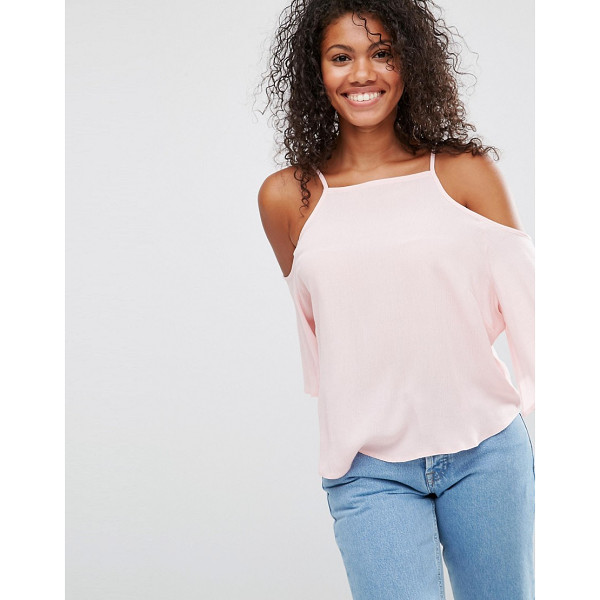 BRAVE SOUL Cold Shoulder Top - Top by Brave Soul, Lightweight woven fabric, Square...