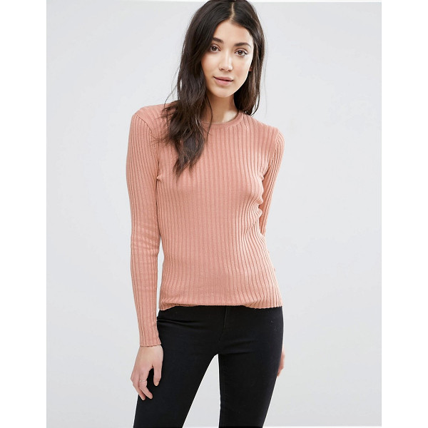 BRAVE SOUL Crew Neck Rib Sweater - Sweater by Brave Soul, Soft-touch knit, Crew neck, Ribbed...