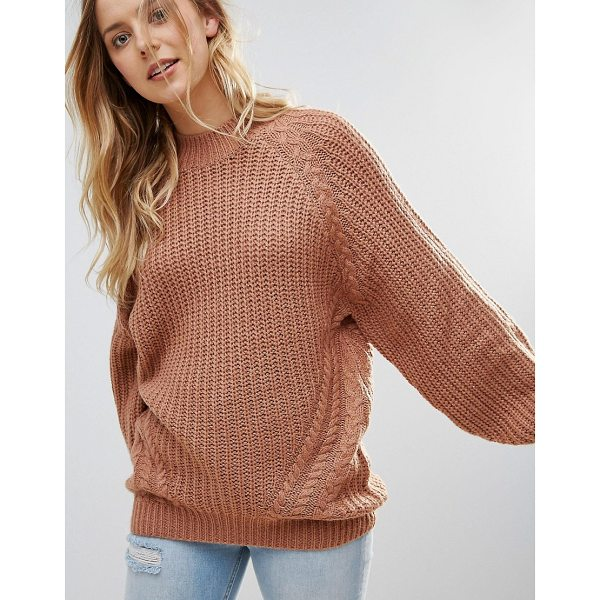 BRAVE SOUL Fez Loose Fit Sweater - Sweater by Brave Soul, Chunky knit, Raglan sleeves, Ribbed...