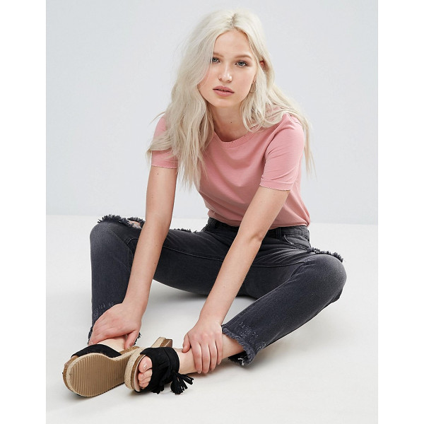 """BRAVE SOUL Rib T-Shirt - """"""""Top by Brave Soul, Soft-touch jersey, Crew neck, Ribbed..."""
