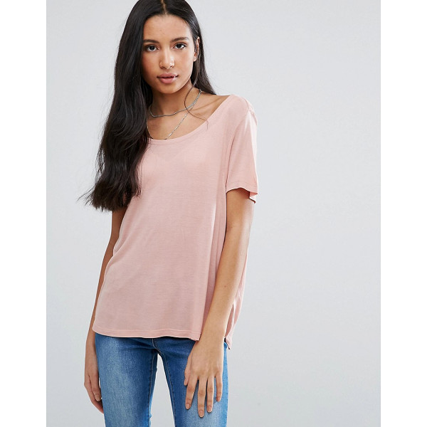 "BRAVE SOUL Scoop Neck T-Shirt - """"Top by Brave Soul, Soft-touch jersey, Scoop neck, Stepped..."