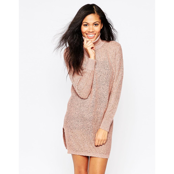 B.YOUNG Roll neck sweater dress - Casual dress by b. Young Lightweight, open gauge knit...