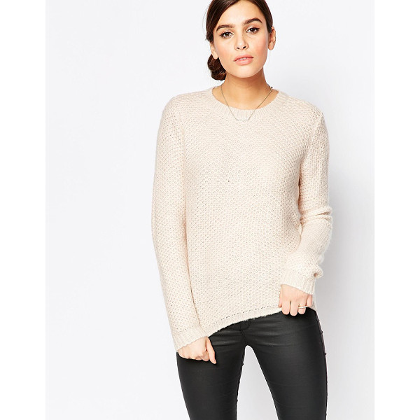 B.YOUNG Round neck sweater - Sweater by b.Young, Textured knit, Round neckline, Ribbed...