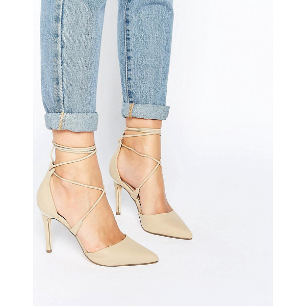 CALL IT SPRING Call It Spring Argaine Lace Up Detail Pointy Pump - Shoes by Call It Spring, Faux-leather upper, Lace-up...