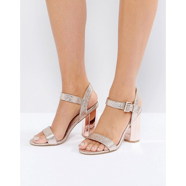 "CALL IT SPRING Call It Spring Burgersdorp Pink Glitter Two Part Heeled Sandals - """"Sandals by Call It Spring, Textile upper, Glitter finish,..."