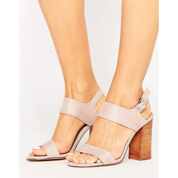"""CALL IT SPRING Call It Spring Peawia Blush Block Heeled Sandals - """"""""Sandals by Call It Spring, Faux-suede upper, Slingback..."""