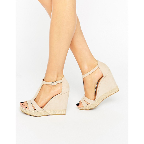 CALL IT SPRING Call It Spring Gralia T-Bar Wedge With Rope Detail - Wedges by Call It Spring, Faux-suede upper, Open toe, T-bar...