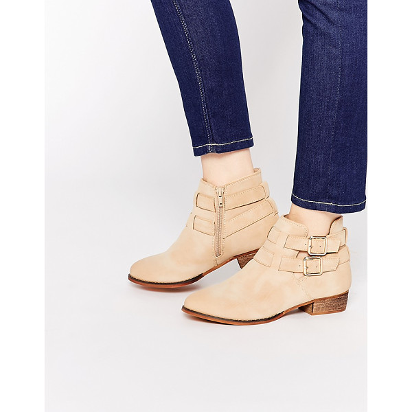 CALL IT SPRING Yenalian double strap western ankle boot - Boots by Call It Spring, Suede-look Upper, Almond toe,...
