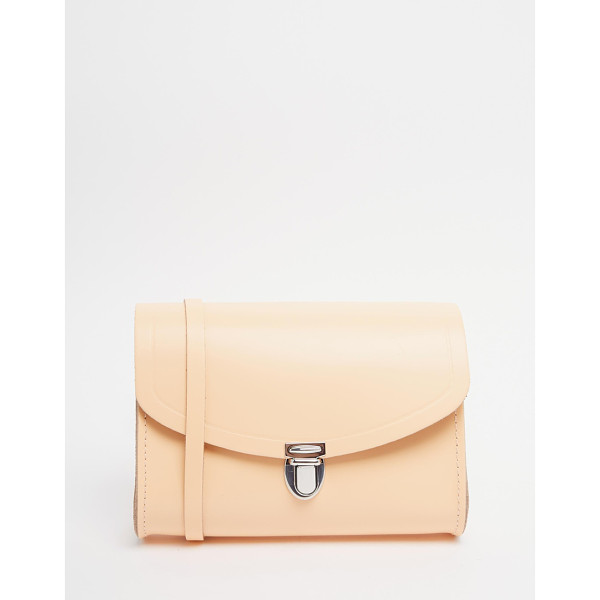 CAMBRIDGE SATCHEL The  leather push lock bag in peach - Cart by Cambridge Satchel Company Leather outer Single...