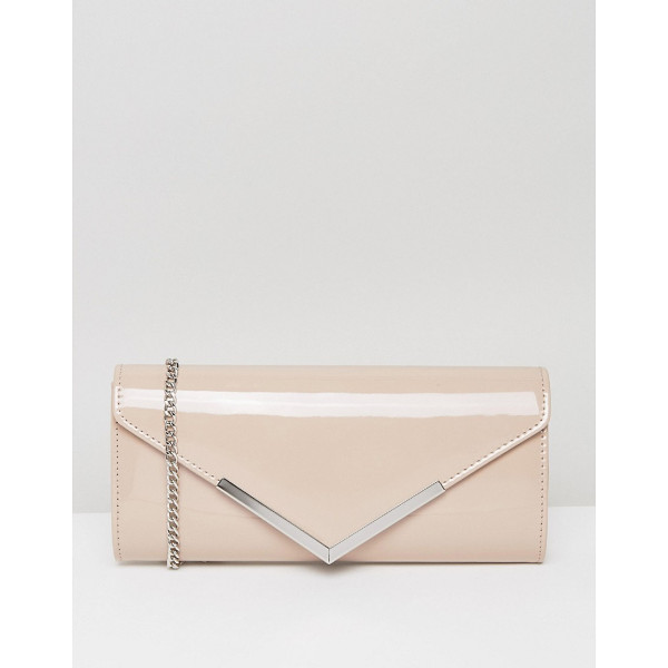 CARVELA Daphne Rectangular Envelope Clutch - Clutch bag by Carvela, Smooth faux-leather outer, Cross
