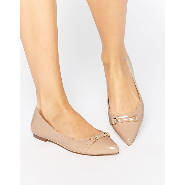 CARVELA KURT GEIGER Moore Point Flat Shoes - Shoes by Carvela, Leather-look upper, Glossy patent finish,...