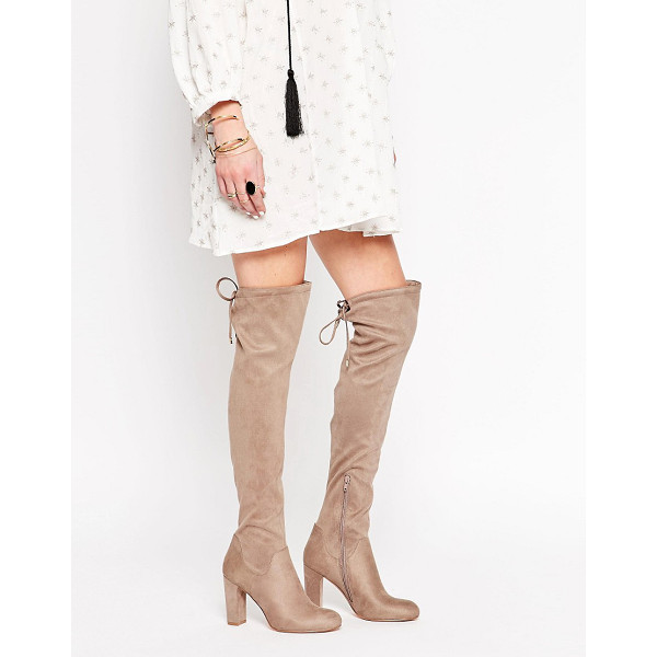 CARVELA KURT GEIGER Pace Over The Knee Boots - Shoes by Carvela, Faux suede upper, Over-the-knee design,...