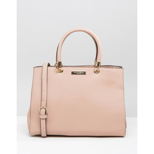 CARVELA KURT GEIGER Tote bag - Cart by Carvela, Faux-leather outer, Contrast lining, Twin...