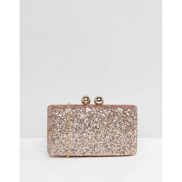 CHI CHI LONDON Glitter Clutch Bag - Clutch bag by Chi Chi London, Glitter outer, Structured