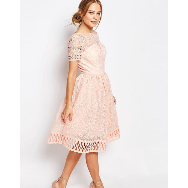CHI CHI LONDON Premium Lace Dress with Cutwork Detail and Cap Sleeve - Lace dress by Chi Chi London, Floral lace, Bandeau lining,...