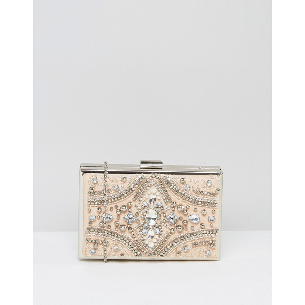 CHI CHI LONDON Rectangular Embellished Box Clutch - Clutch bag by Chi Chi London, Faux leather outer,...