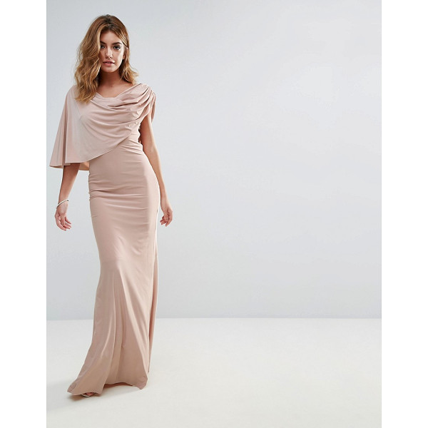 "CITY GODDESS One Shoulder Drape Maxi Dress - """"Maxi dress by City Goddess, Smooth stretch fabric, Cowl..."